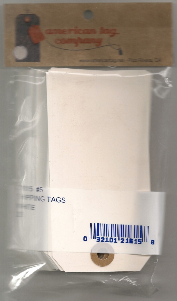 #3 13 POINT WHITE TAGS 25/PK